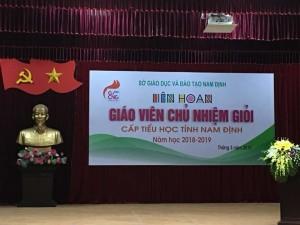Cấp Tiểu học huyện Nam Trực tham gia Liên hoan Giáo viên chủ nhiệm giỏi tỉnh Nam Định năm học 2018-2019